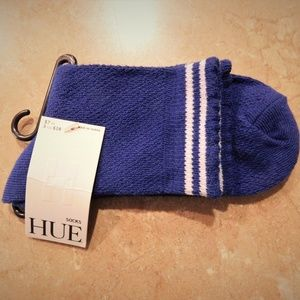 HUE Purple Sports Shortie Tennis Cotton Blend Sock